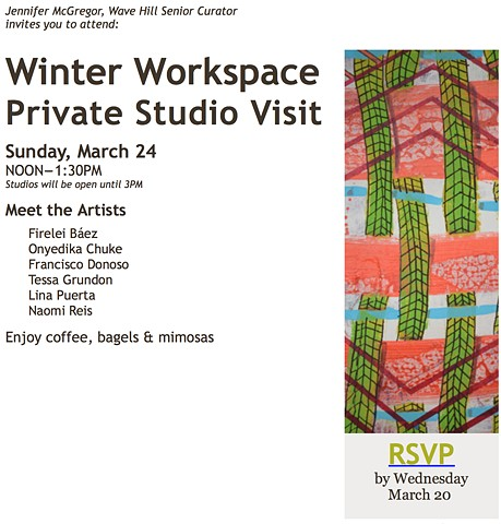 WAVE HILL WINTER WORKSPACE - PRIVATE STUDIO VISIT