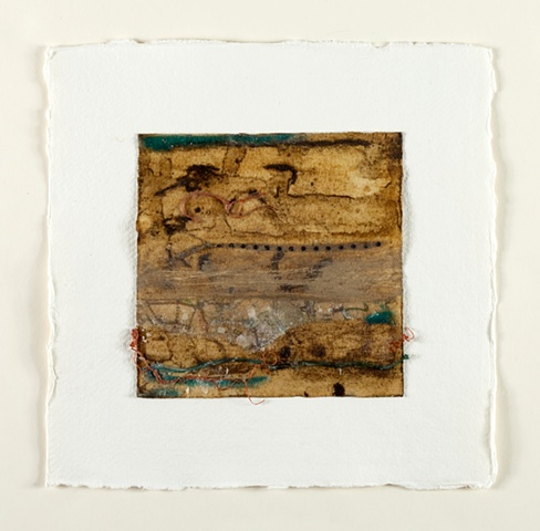 Mixed media, found objects, thread, beeswax