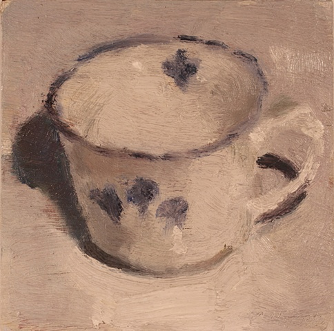 tea with blue