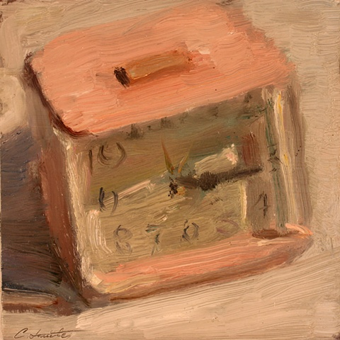 pink clock sundown