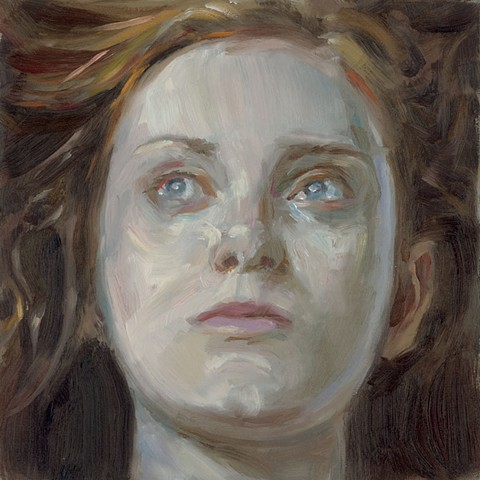 oil portrait on panel