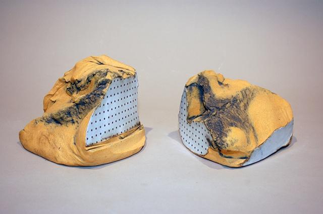 ceramic stoneware laser decal dots