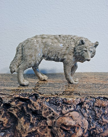 The Narrowing Ledge for the Wyoming Wolf (detail)