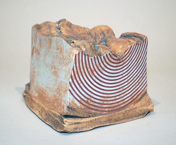 ceramic stoneware laser decal circles