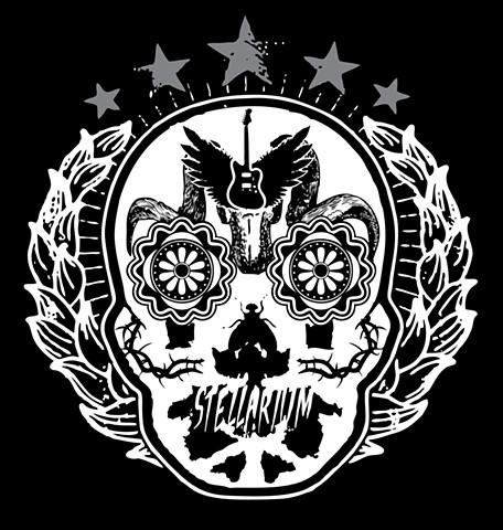 Stellarium Rorschach Skull Logo