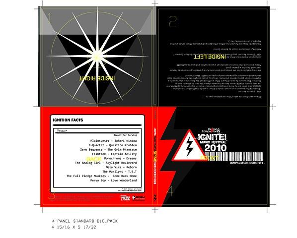IGNITE! 2010 Compilation CD Digipak Layout & Design