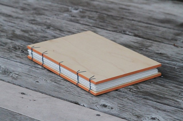 large notebook - apricot trim