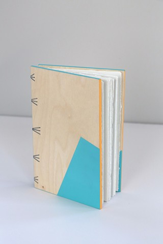 large notebook - robin's egg + tangerine