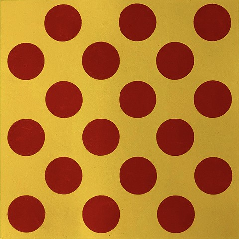 Red Circles on Yellow
