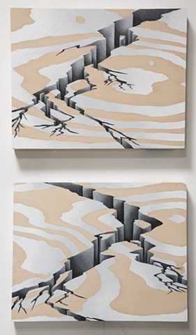 Double Rift (Diptych)