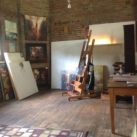 New studio space at The Warehouse #6 July 2016