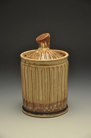 groovy lidded vessel