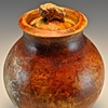 lidded buffalo pot #3