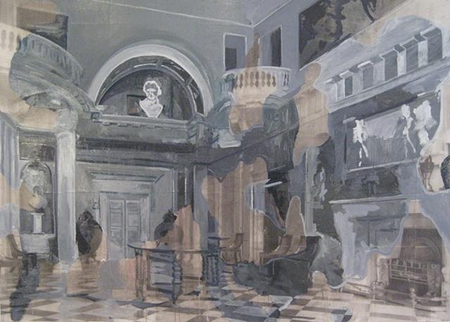 The Entrance Hall Bowood House; demolished 1956