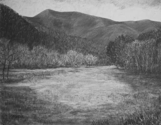 Hambidge Center charcoal drawing katherine meyer artist
