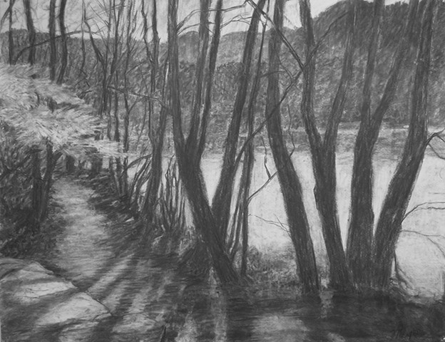 Hambidge Center katherine meyer artist charcoal drawing
