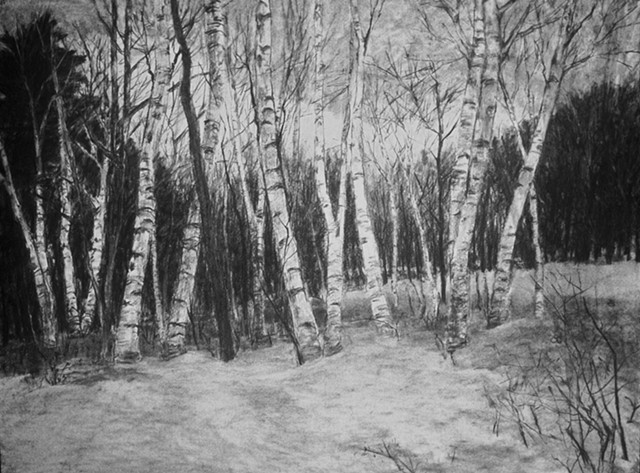 Millay Colony katherine meyer artist charcoal drawing