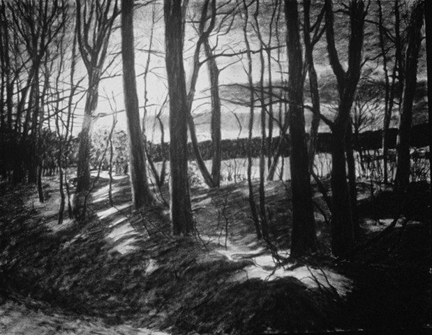 Millay Colony NY katherine meyer charcoal on paper