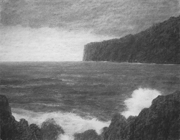 Hawaii big island katherine meyer charcoal drawing