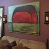 Uluru Abstract installation in a private residence,NYC