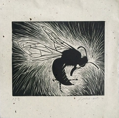 Linoleum Print on Japanese Chiri paper