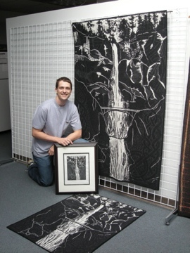 Andrew with large and small Multnomah Tapestry