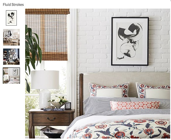 Fluid Strokes print featured at Pottery Barn Retailer, 2018