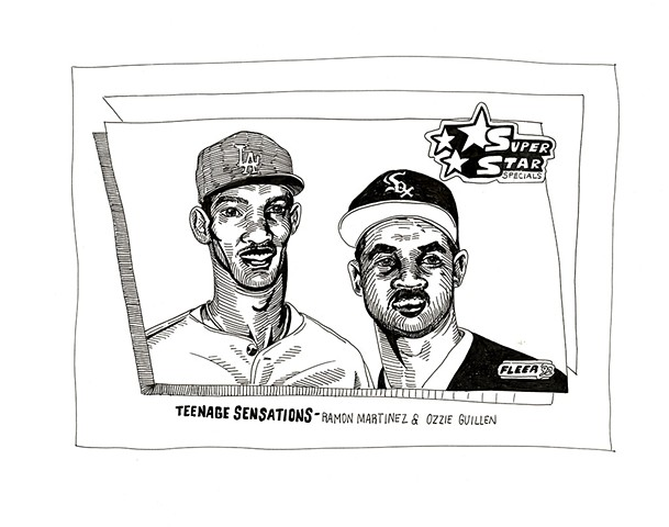 Teenage Sensations: Ramon Martinez, Ozzie Guillen (Fleer 1992)