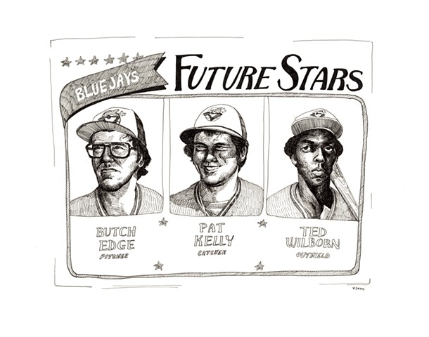Future Stars: Butch Edge, Pat Kelly, Ted Wilborn (Topps 1980)