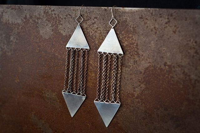 Multi-chain Earrings  From the Arrow Collection