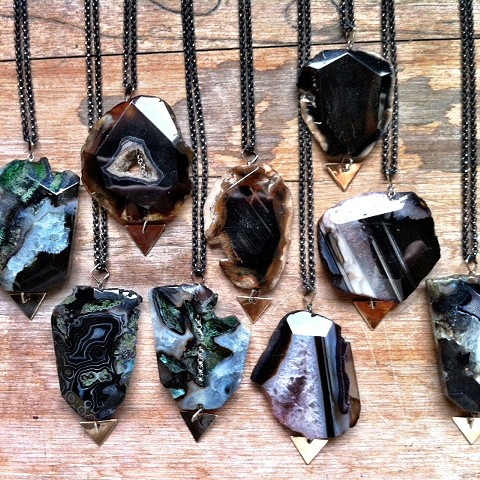 Agate Necklaces: Moonside & Moss
