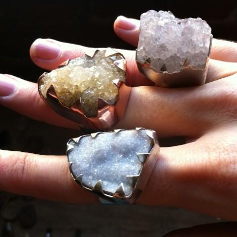 Druzy & Amethyst Rings