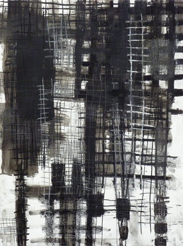 charcoal and acrylic medium on paper by Jay Hendrick