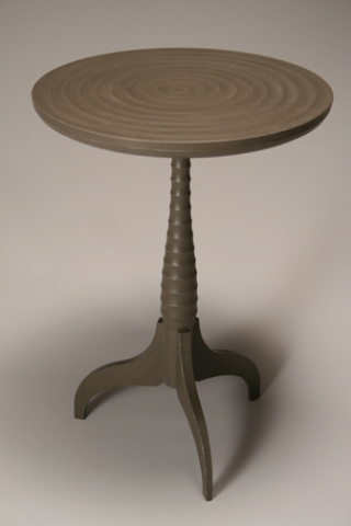 BROWN PEDESTAL TABLE