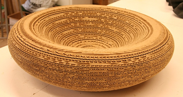 LARGE CORRUGATED BOWL