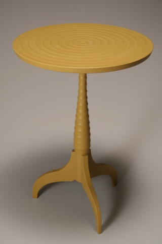 YELLOW PEDESTAL TABLE