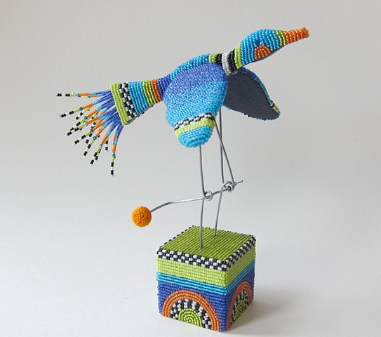 """Beaded Bird Automata"""
