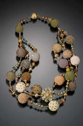 Multi Strand Beaded Bead Necklace