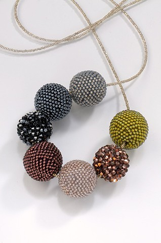 Beaded Beads in Fall Tones