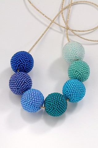 Beaded Beads in Cool Tones