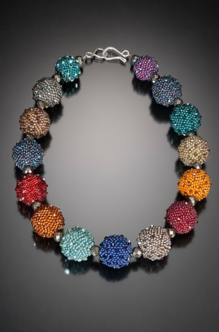 Large Beaded Bead Necklace