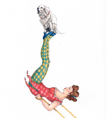 Circus Girl and Dog