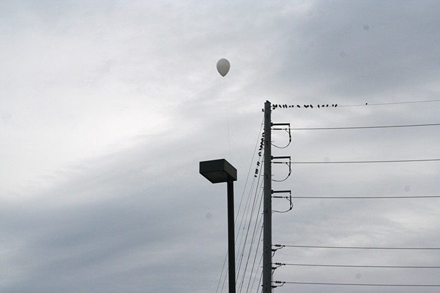 """Balloon on lamp post"""