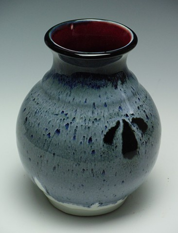 Red Black & Blue Vase