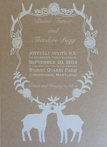 custom designed wedding invitation.