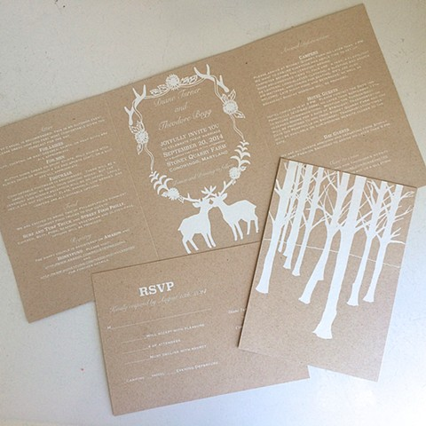 custom designed wedding invitation suite.