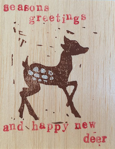 seasons greetings and happy new deer! (detail)