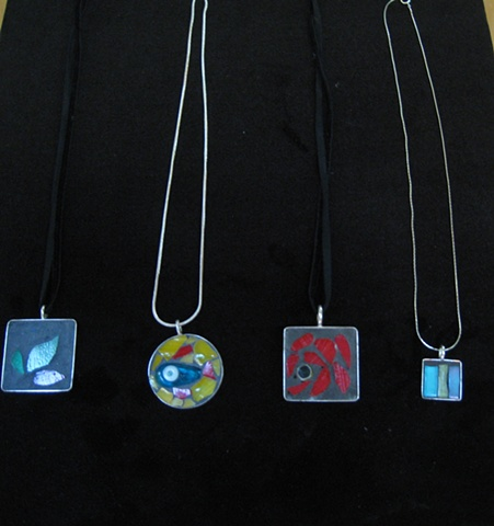 mosaic necklaces