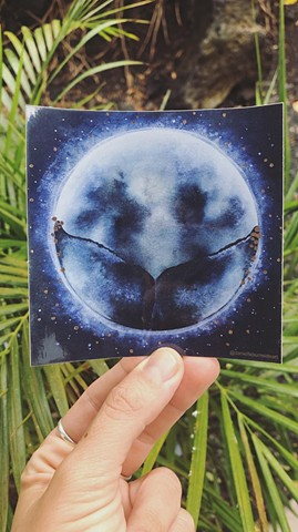 moon tail sticker