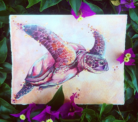 turtle print; honu